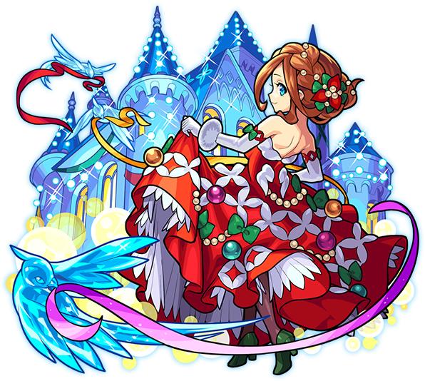 クリスマスドレスを着たモンスターストライク・グィネヴィアの画像